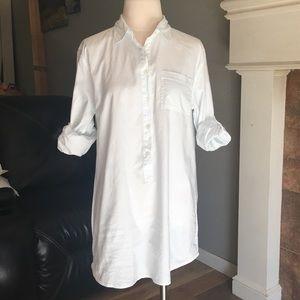 JCREW white cotton tunic